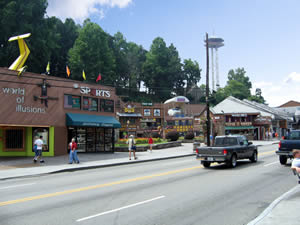 Parkway Attractions in Downtown Gatlinburg