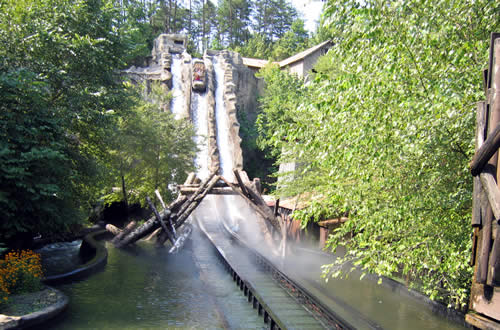 Dollywood Log Flume Ride